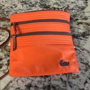 Dooney & Bourke Orange Nylon Crossbody Bag